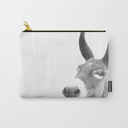 Black and white donkey Carry-All Pouch