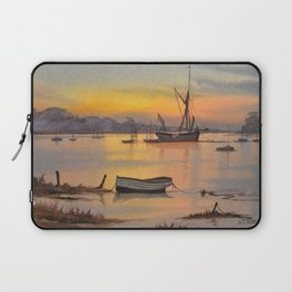 Thames Barge At Sunrise - Pin Mill Suffolk Laptop Sleeve