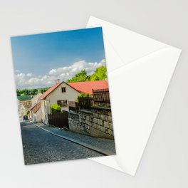 A street in Turnov Stationery Cards