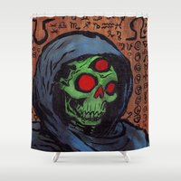 occult Shower Curtains featuring Occult Macabre by Chris Moet