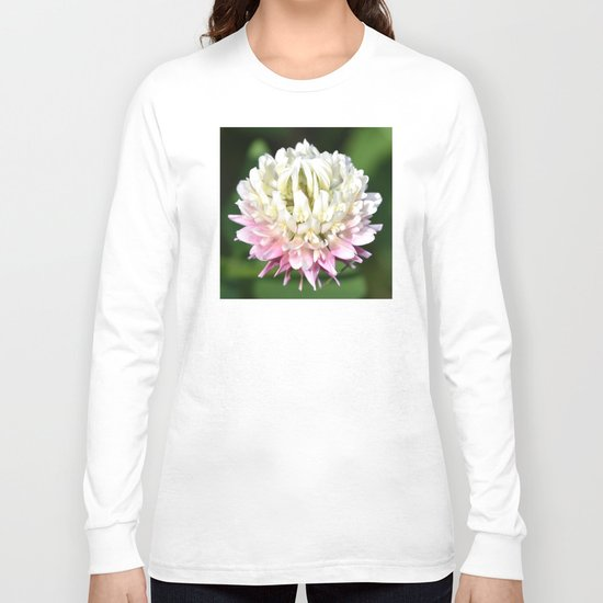 Flower | Flowers | One Clover Flower | Nature Photography | Nadia Bonello Long Sleeve T-shirt