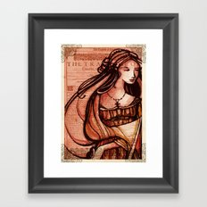 Desdemona - Othello - Shakespeare Folio Illustration  Framed Art Print