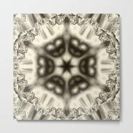Sepia jewelled kaleidoscope splendor Metal Print