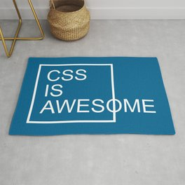 CSS Is Awesome Funny Geek Quote Rug