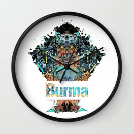 Burma Awesome Country gift Wall Clock