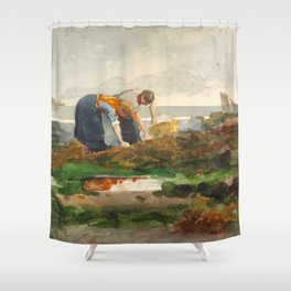 Winslow Homer's The Mussel Gatherers (1881-1882) Shower Curtain