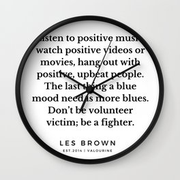 41  |  Les Brown  Quotes | 190824 Wall Clock