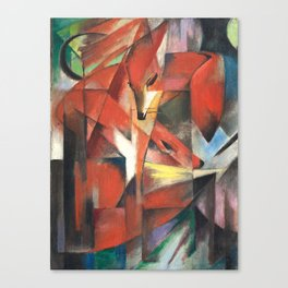 Franz Marc, The Foxes,1913 Canvas Print