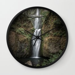 Iconic Multnomah Falls in the Columbia River Gorge of Oregon Wall Clock