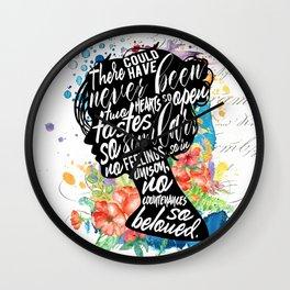 Persuasion - So Beloved Wall Clock