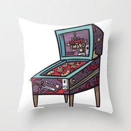 Pinball machine Retro Gaming Throw Pillow