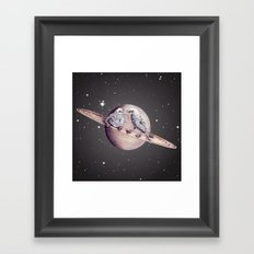 Space Sparrows Framed Art Print