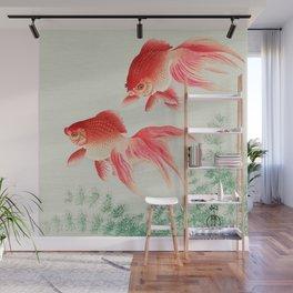 Ohara Koson - Two veil goldfish Wall Mural