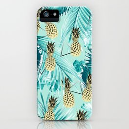 Tropical Pineapple Jungle Geo #3 #tropical #summer #decor #art #society6 iPhone Case