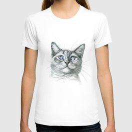 Cross Eyed cat G122 T-shirt