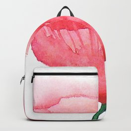Red Poppy / Watercolor Painting Backpack