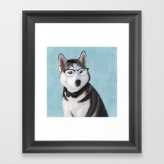 Mr Husky Framed Art Print