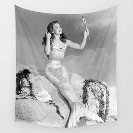 Vintage Mermaid : Mr Peabody & The Mermaid Wall Tapestry