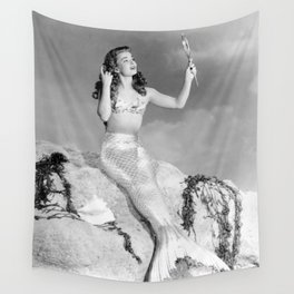 Vintage Mermaid : Mr Peabody & The Mermaid Wall Tapestry