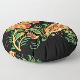 Russian Folks Art  Floor Pillow