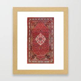 Bijar Kurdistan Northwest Persian Rug Print Framed Art Print