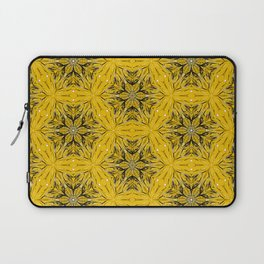 Black and yellow star ornament Laptop Sleeve