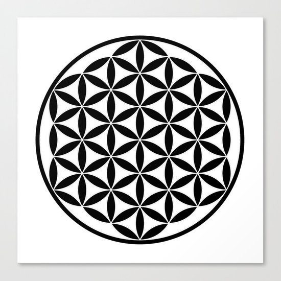 Pure Energy The Flower of Life Canvas Print