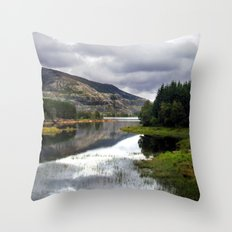lakeside in norway. Throw Pillow
