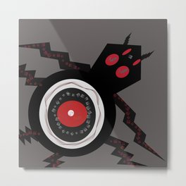 Spider Eye Metal Print
