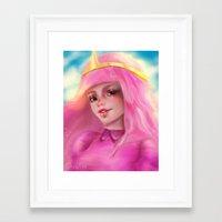 princess bubblegum Framed Art Prints featuring Princess Bubblegum by ChrySsV