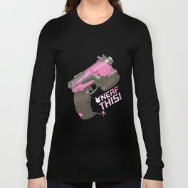 Nerf This! D.va Quote Poster, OW Long Sleeve T-shirt