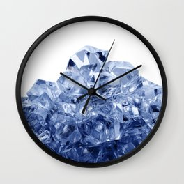 Mountain made of crushed ice, isolated on white background Wall Clock