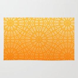 Orange & Yellow Islamic Geometrical Pattern Rug