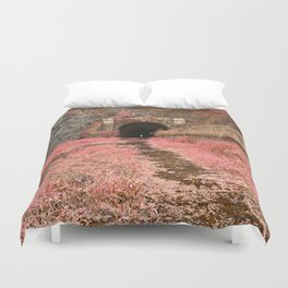 Paw Paw Tunnel - Pink Netherworld Duvet Cover
