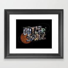 Greetings From Outer Space (color 01) Framed Art Print