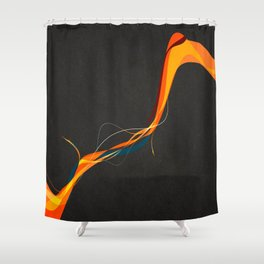 Frayed Abstract Shower Curtain