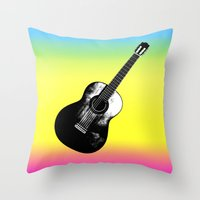woodstock Throw Pillows featuring Woodstock by Nicko-Suave Art
