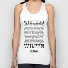 WRITERS WRITE! Unisex Tank Top