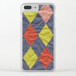 Wrinkled Harlequin II Clear iPhone Case