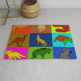 Desert animals pop art Rug