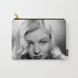 Veronica Lake Black and White Photographic Portrait Carry-All Pouch