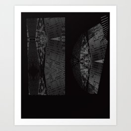 building vector camo Art Print