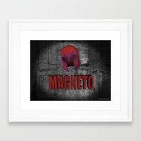magneto Framed Art Prints featuring Magneto by ZeebraPrint