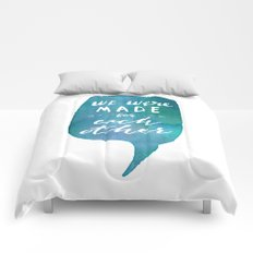 we were MADE for each other (Valentine Love Note) Comforters