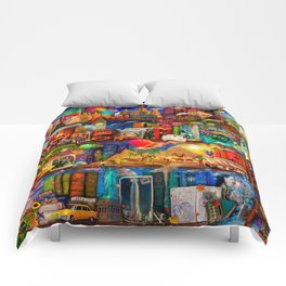 World Traveler Book Shelf Comforters