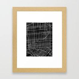 Fishtown and South Kensington Map Framed Art Print