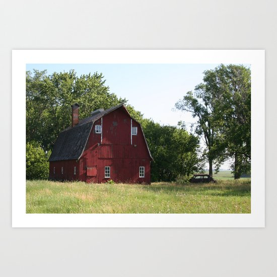 Deserted Farm Art Print