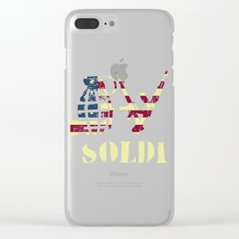 Love My Soldier Army Mom design | Army Wife Tee Clear iPhone Case