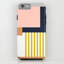 Sol Abstract Geometric Print in Multi iPhone Case
