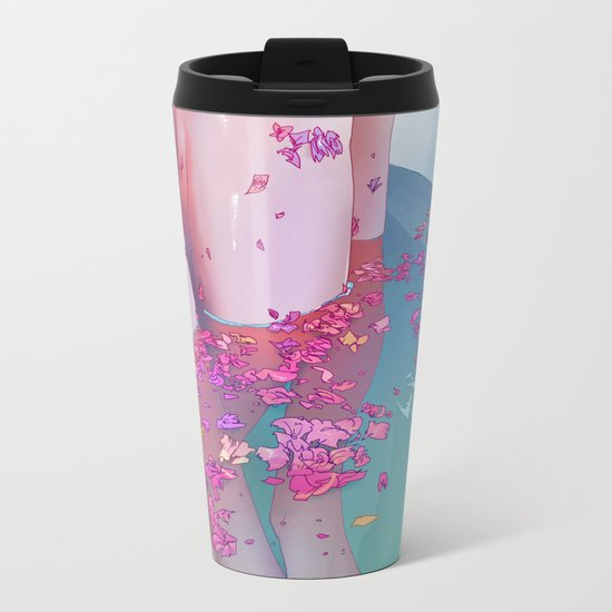 Flower Bath 4 Metal Travel Mug